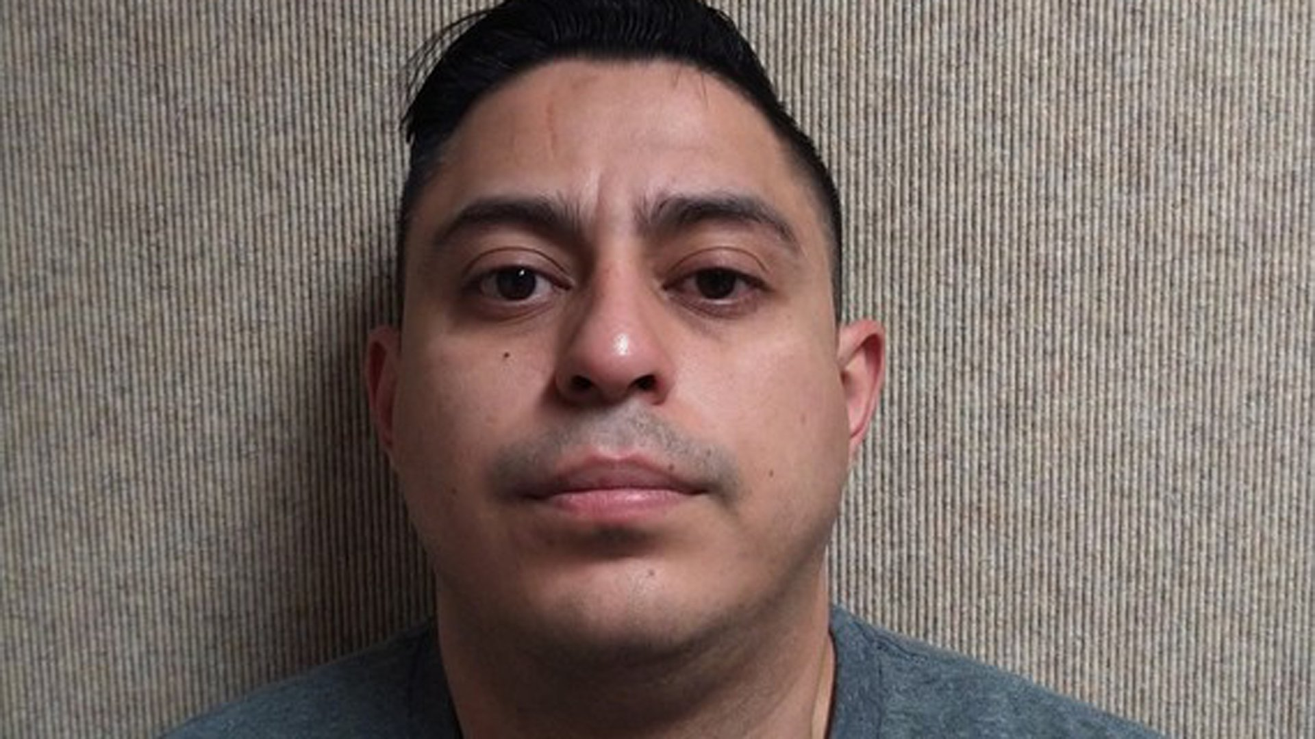 Alonso Calle is seen in a booking photo released by the Fontana Police Department on Jan. 12, 2020.