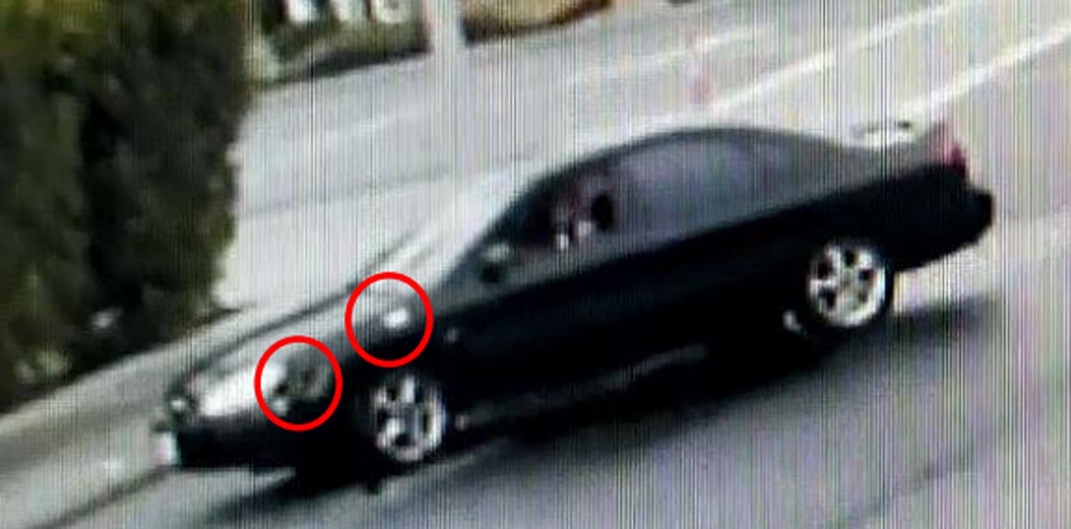 Alleged suspect vehicle seen in the photo on Jan. 6, 2020. (Credit: Hemet Police Department)