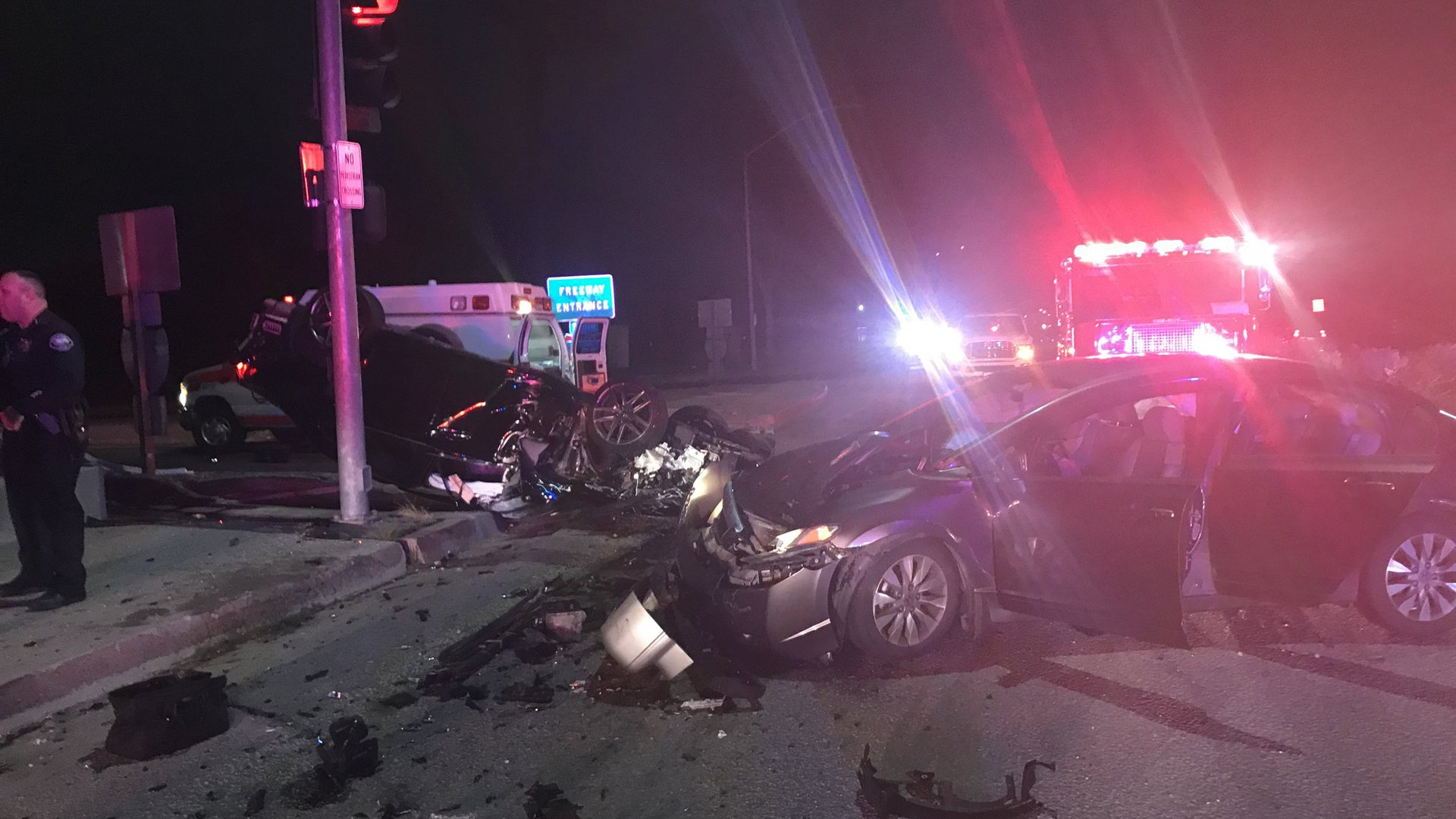 Irwindale police tweeted this photo of the crash scene on Jan. 20, 2020.