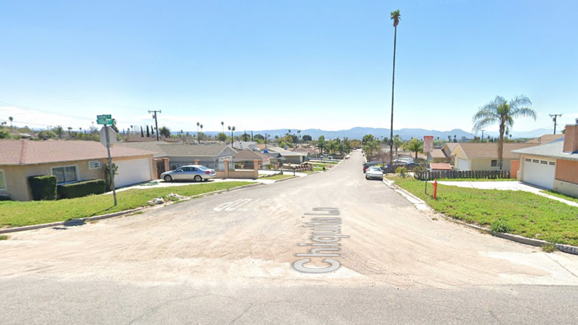The 5300 block of Chiquita Lane in San Bernardino, as viewed in a Google Street View image.