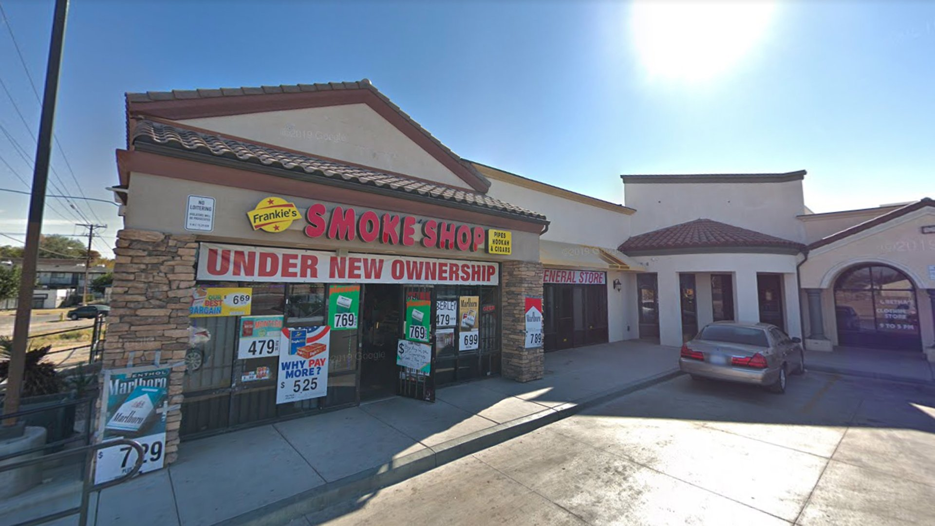 Frankie's Smoke Shop in Victorville appears in an undated image from Google Maps.
