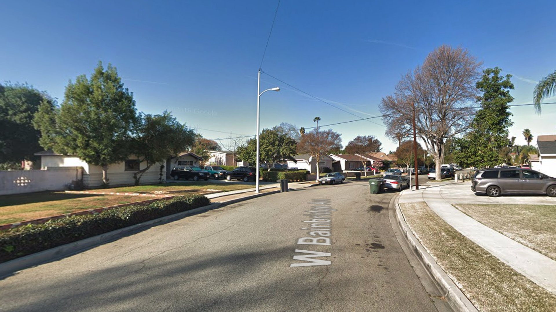 The 1300 block of Bainbridge Avenue in West Covina, as viewed in a Google Street View image.