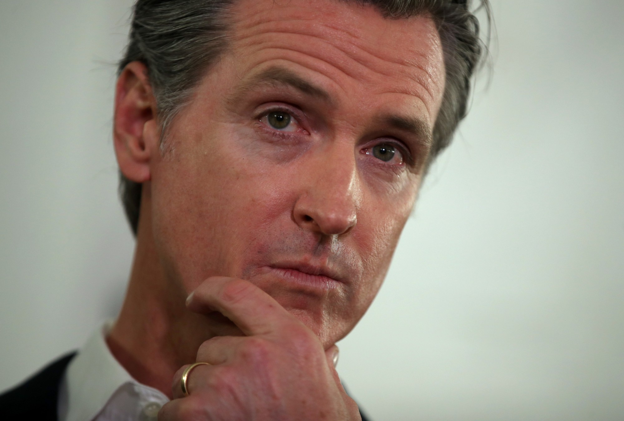 California Gov. Gavin Newsom looks on during a a news conference Jan. 16, 2020, in Oakland (Justin Sullivan/Getty Images)