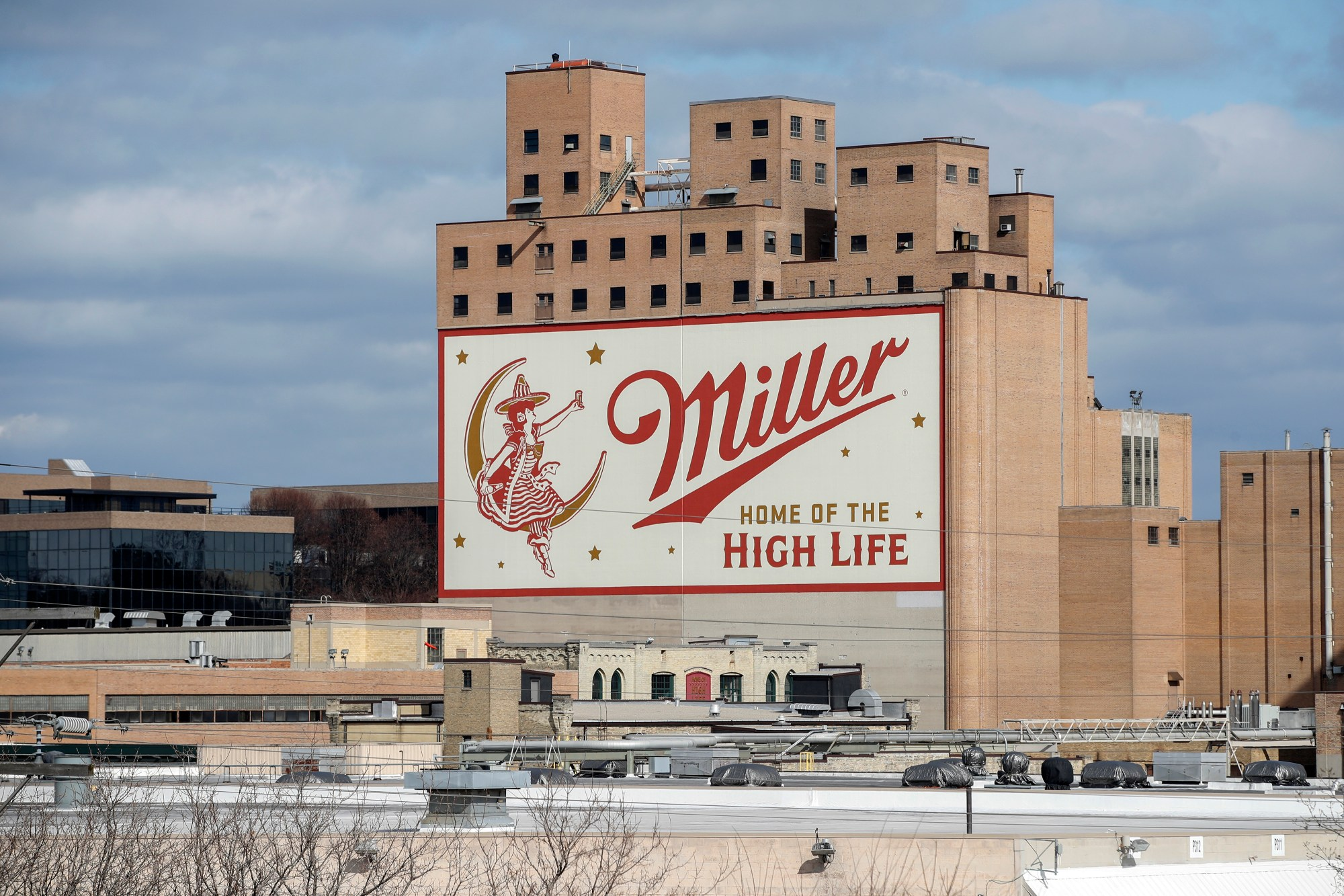 An exterior view of the Molson Coors Brewing Co. campus on Feb. 27, 2020, in Milwaukee, Wisc. On Feb. 26, an employee allegedly shot and killed five coworkers before killing himself. (Kamil Krzaczynski/Getty Images)