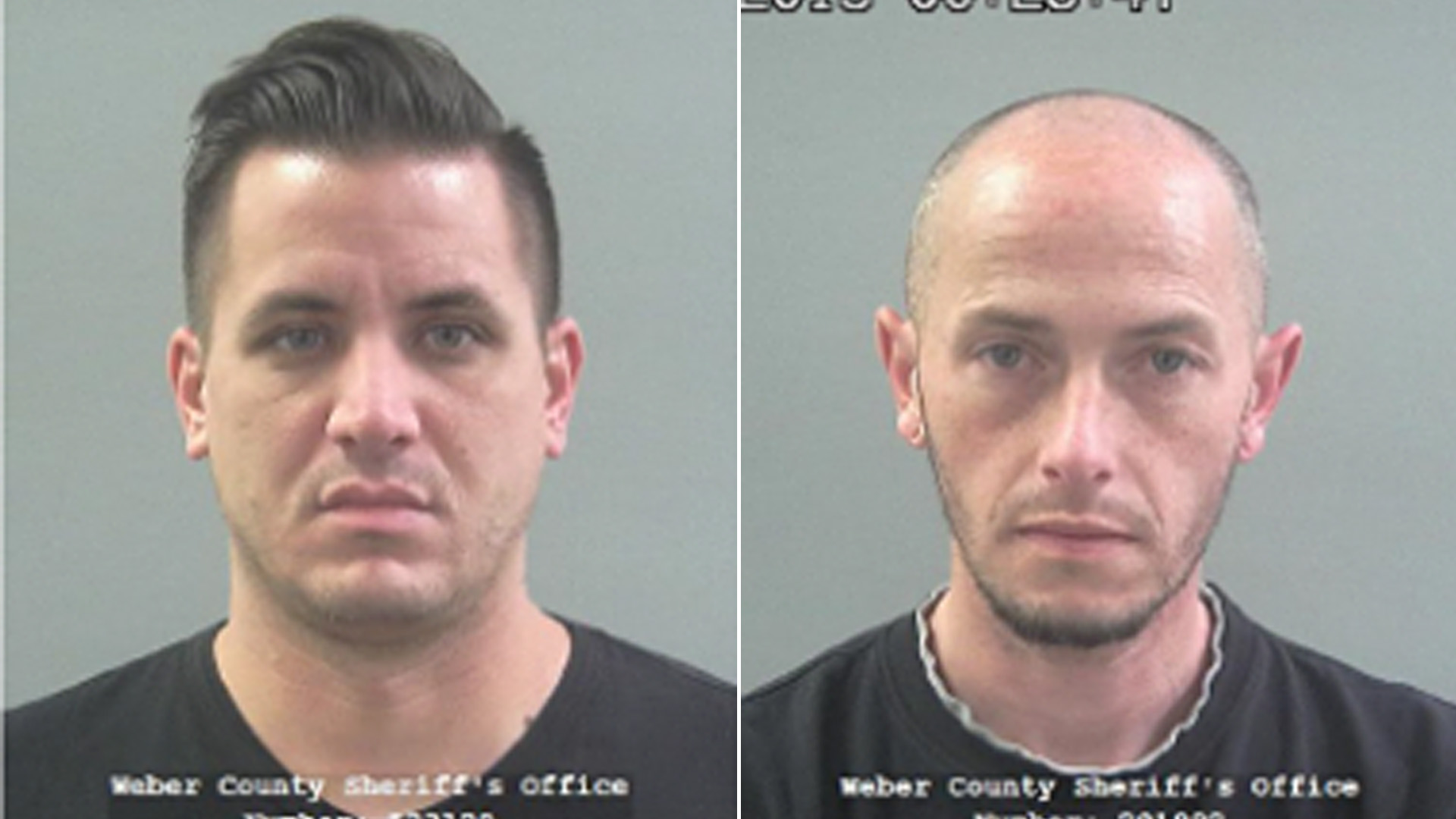 Kaleb Wiewandt, left, escaped from Weber County Jail on Feb. 25, 2020, after posing as Matthew Belnap, right.(Weber County Sheriff's Office)
