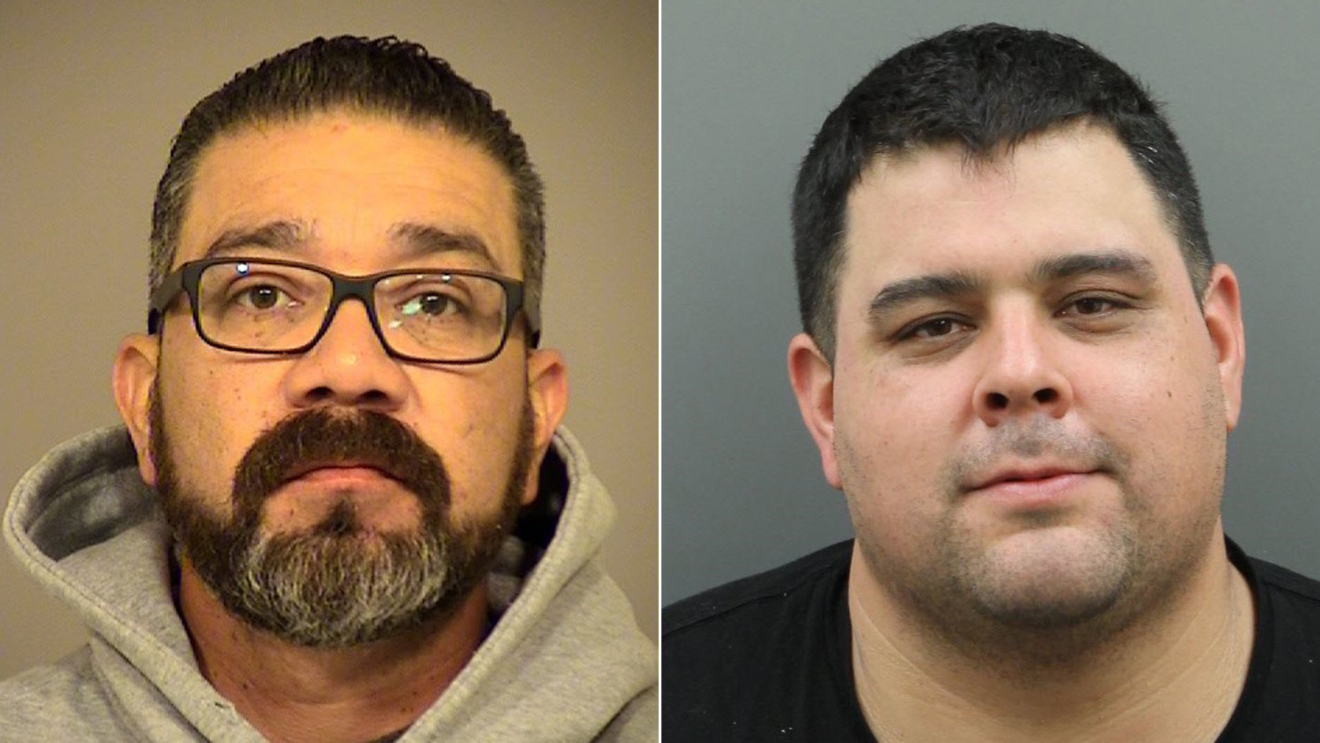 Gabriel Castro, 47 of Ventura, left, and Salvador Vargas, 34, of Santa Maria, pictured in photos released by the Santa Barbara County Sheriff's Office on Feb. 21, 2020.