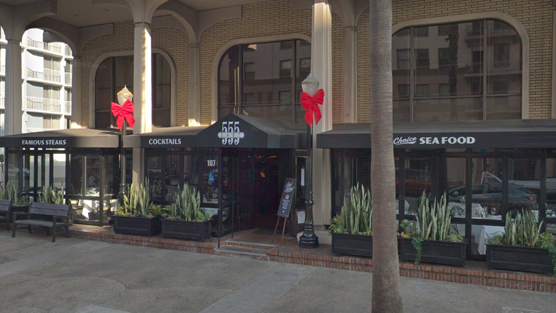 555 East American Steakhouse is seen in this Google Maps image.