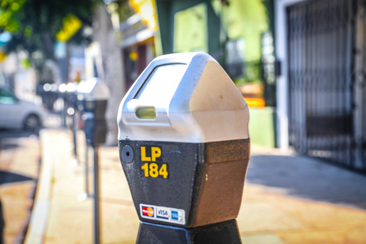 The Los Angeles Department of Transportation tweeted out this photo of a parking meter on March 23, 2020.