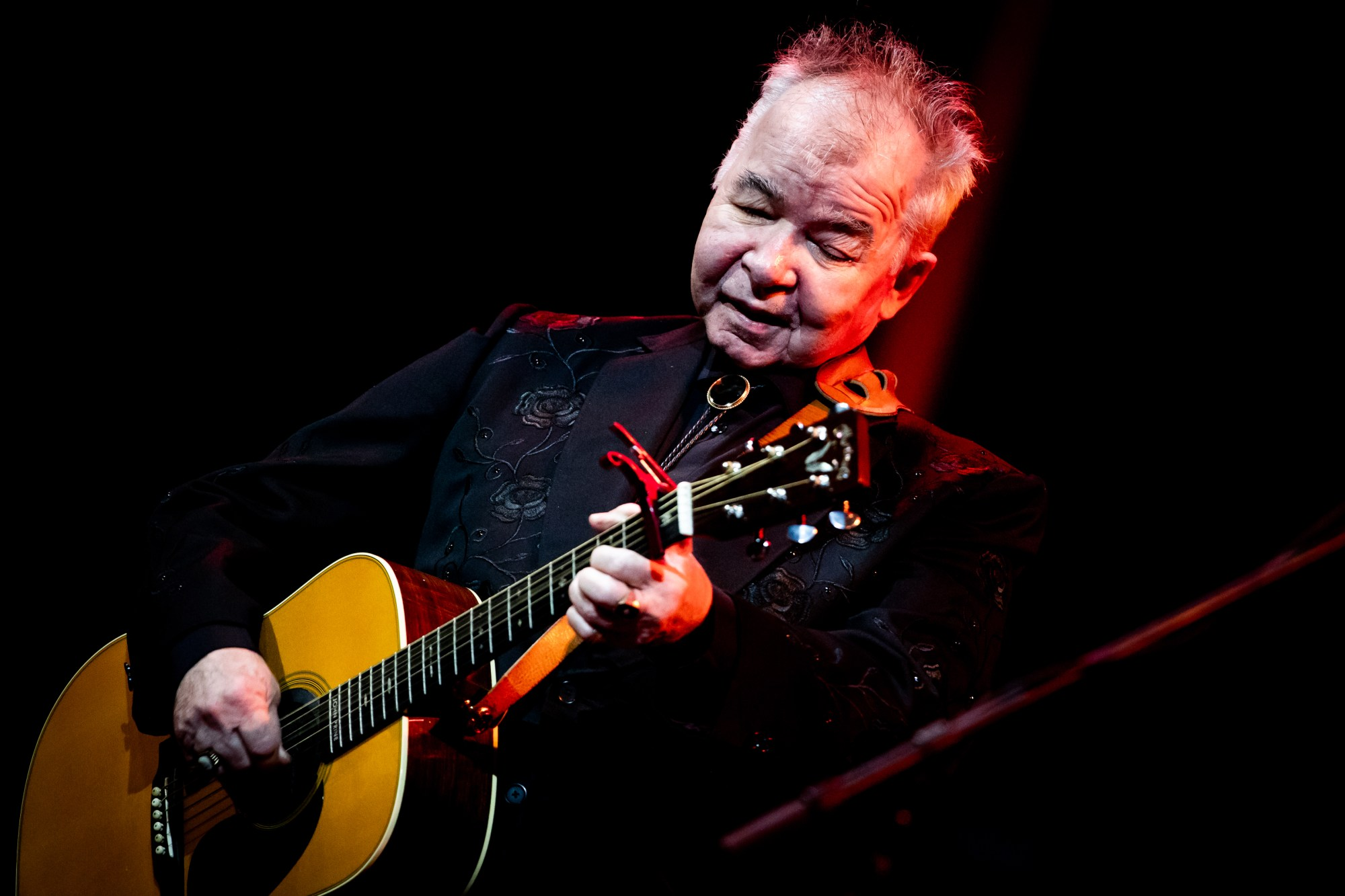 John Prine performs at John Anson Ford Amphitheatre on October 01, 2019 in Hollywood. (Rich Fury/Getty Images)