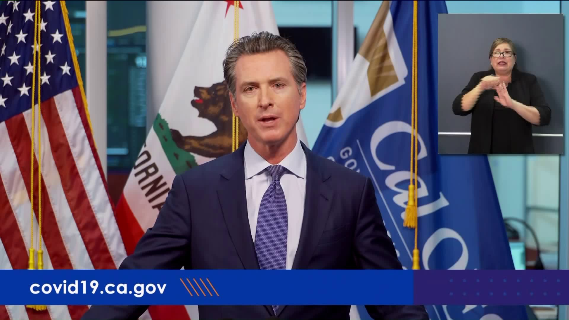 Gov. Gavin Newsom speaks at a news conference on March 31, 2020. (Pool)