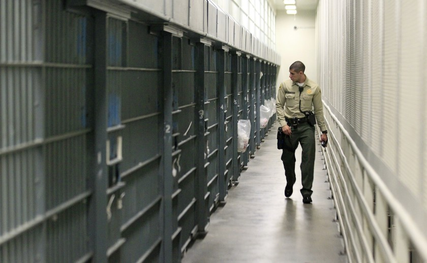 To make space in case the coronavirus enters its jails, the Los Angeles County Sheriff's Department has reduced its inmate population by 6% in the last three weeks. (Los Angeles Times)
