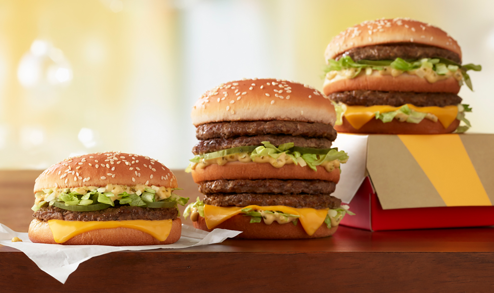 McDonald's will serve a Little Mac (left) and a Double Big Mac (right) beginning on Wednesday, April 11. (McDonald's via CNN Wire)