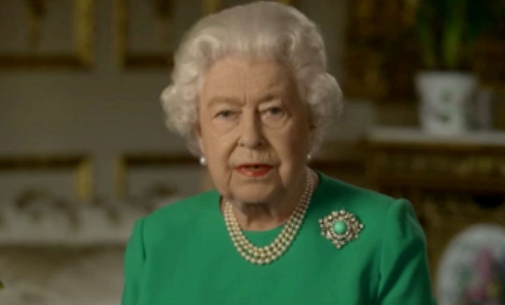 Queen Elizabeth delivers an address to the nation amid the coronavirus pandemic. (CNN)