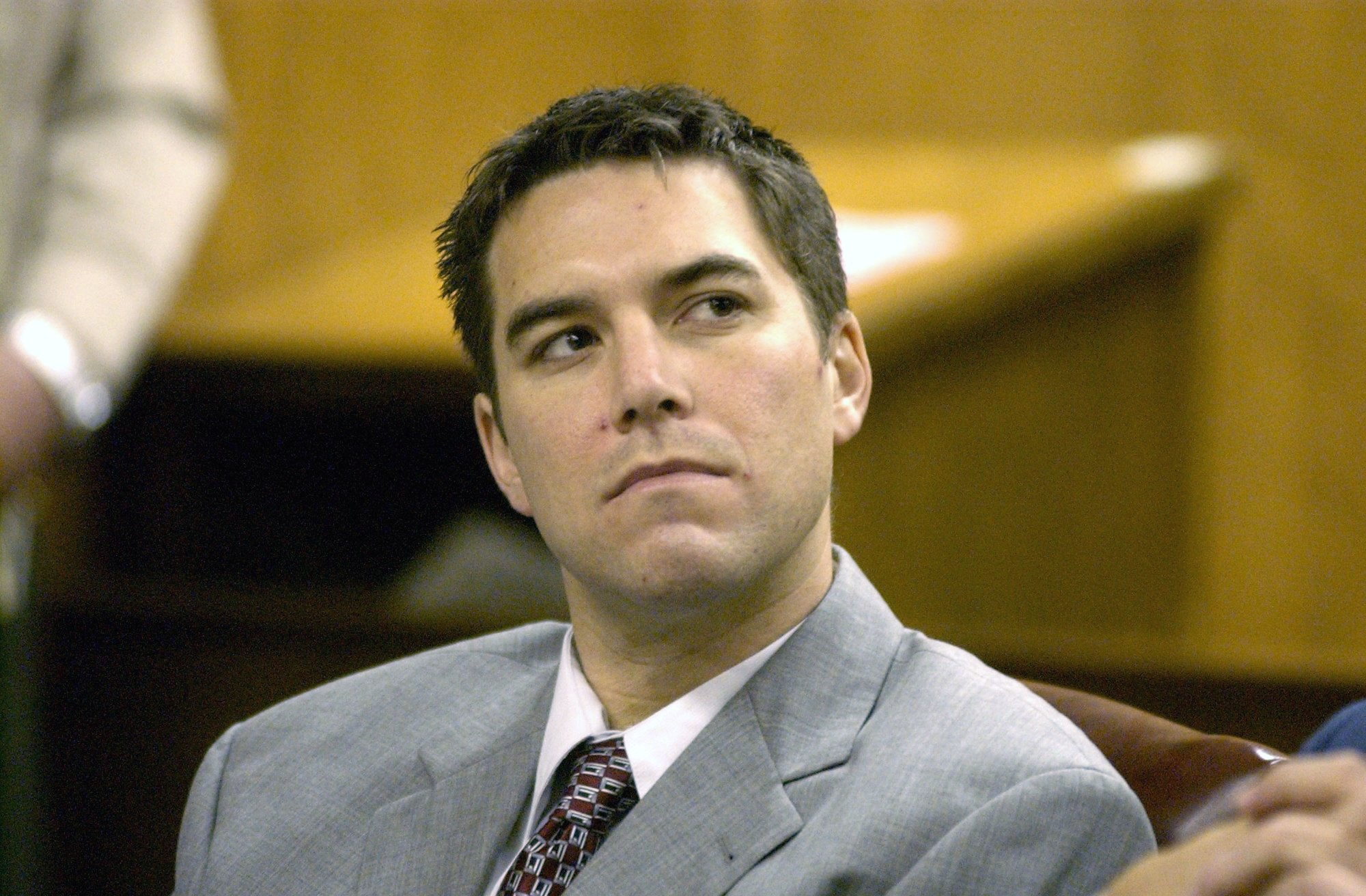 Scott Peterson listens to prosecutor Joseph Distaso respond to defense attorney Mark Geragos' petition for dismissing double murder charges against Peterson January 14, 2004 in Modesto, California. (Bart Ah You-Pool/Getty Images)