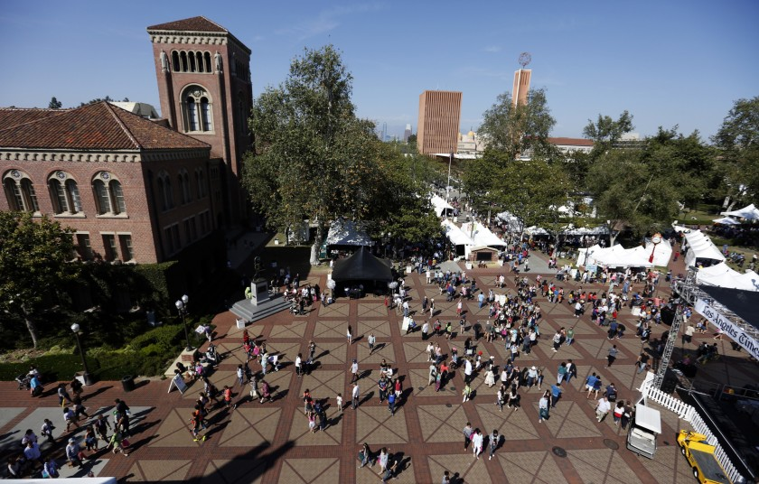 The USC campus is seen in this undated photo.(Francine Orr / Los Angeles Times)