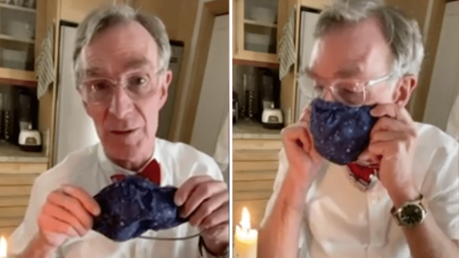 Science educator Bill Nye posted two TikToks urging people to wears masks. (Bill Nye via CNN)