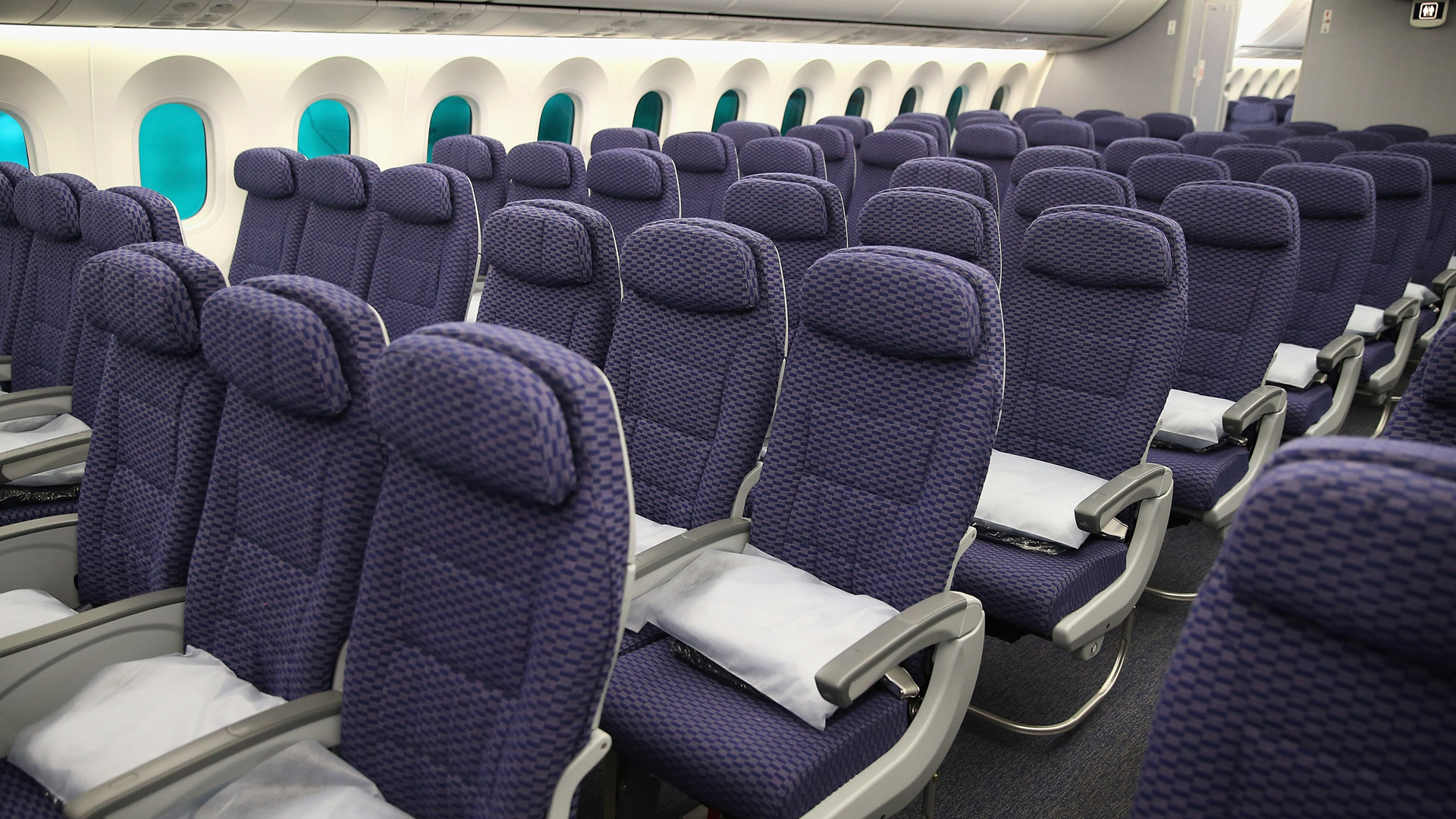 The cabin of an airplane is shown in an undated photo. (Scott Olson/Getty Images)