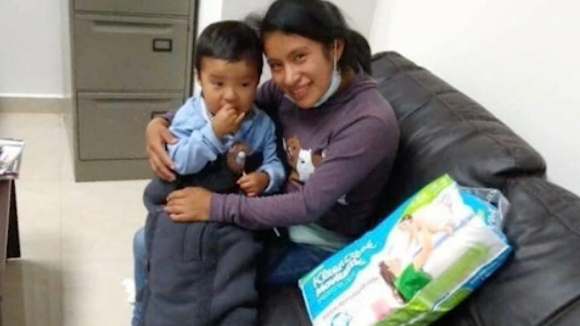 Dylan Esaú and his mother, Juana Perez, are seen in a photo released by the Chiapas Attorney General's Office and distributed by CNN.
