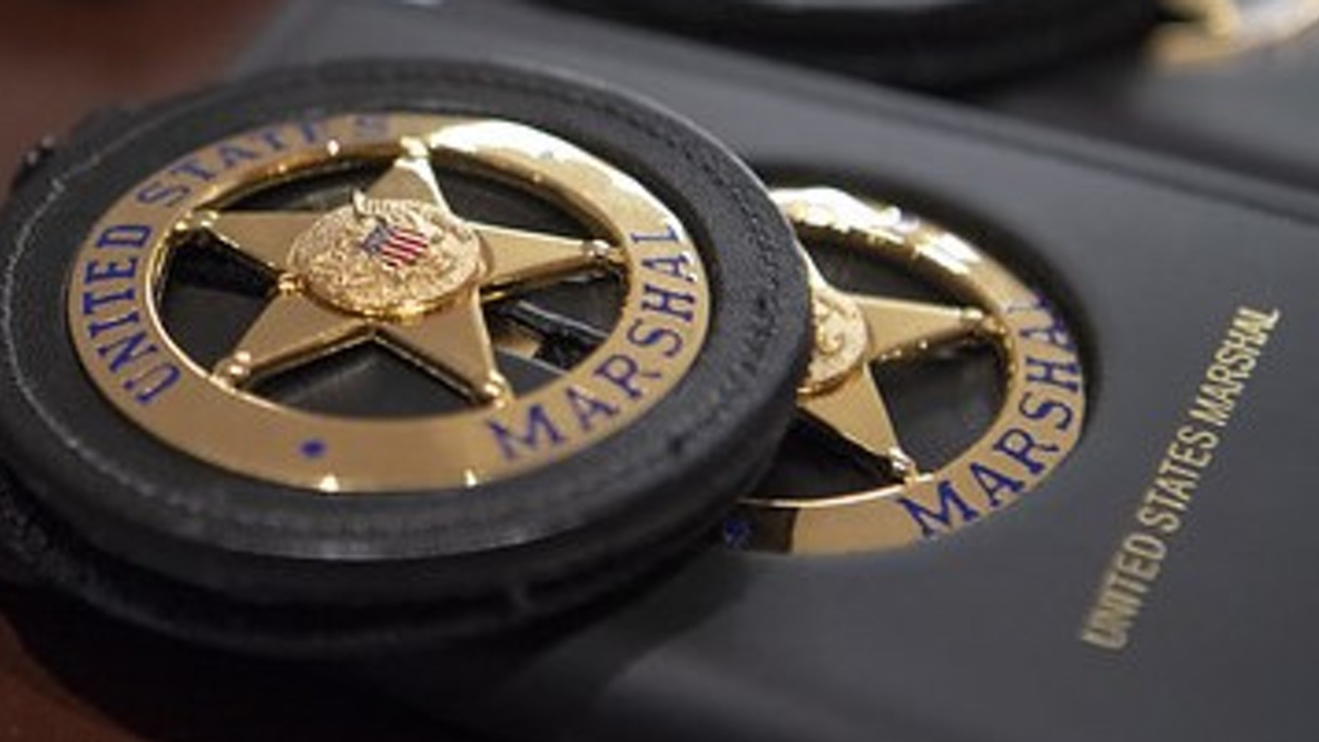 A U.S. Marshals badge is seen in a photo posted to the agency's Twitter page.