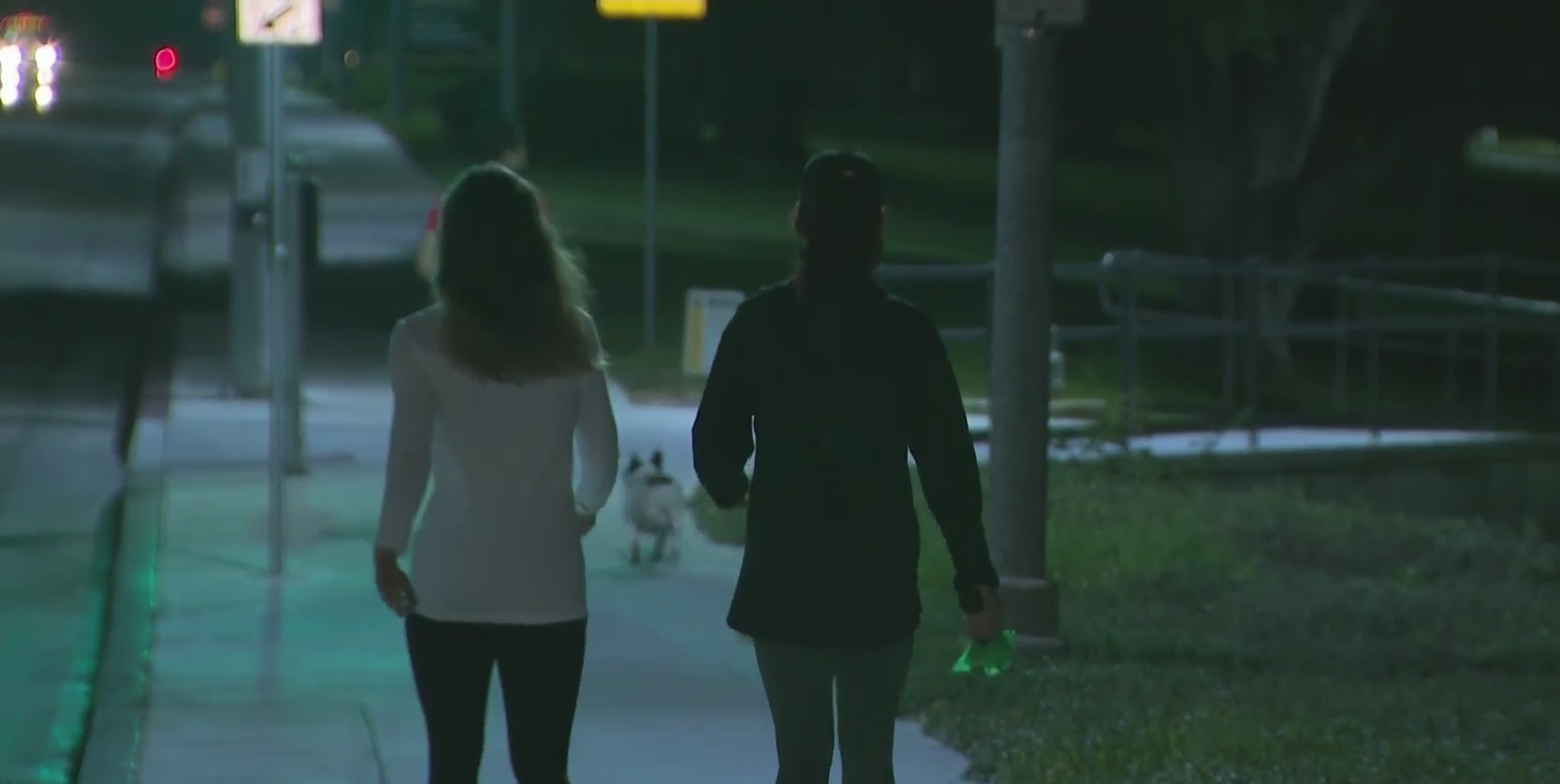 People walk on the Cal State Long Beach campus on Sept. 28, 2020. (KTLA)