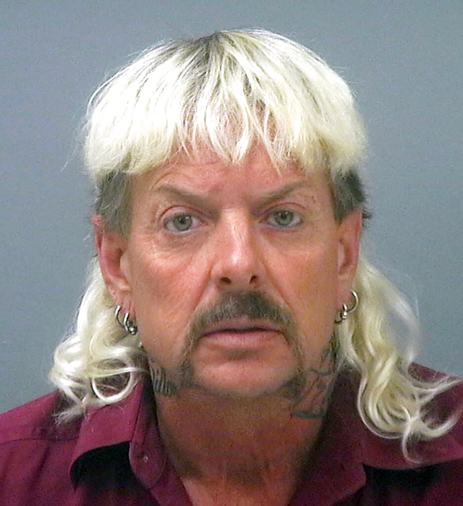 This undated file photo provided by the Santa Rose County Jail in Milton, Fla., shows Joseph Maldonado-Passage, also known as Joe Exotic. (Santa Rosa County Jail via AP, File)