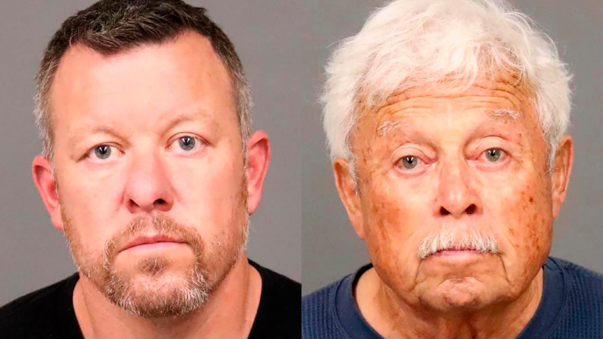 Paul Flores, left, and Ruben Flores, right, are seen in booking photos released by the San Luis Obispo County Sheriff's Office.