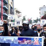 'ब्याक अफ चाईना' भन्दै चिनियाँ दूतावास अगाडि प्रदर्शन