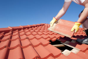 Installing a tile roof in Marietta