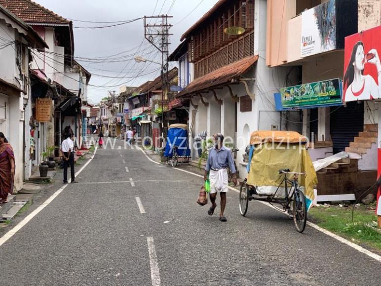Indie, ulica. Typowy keralski widok