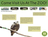 Tri-fold brochure for the Memphis Zoo-Inside