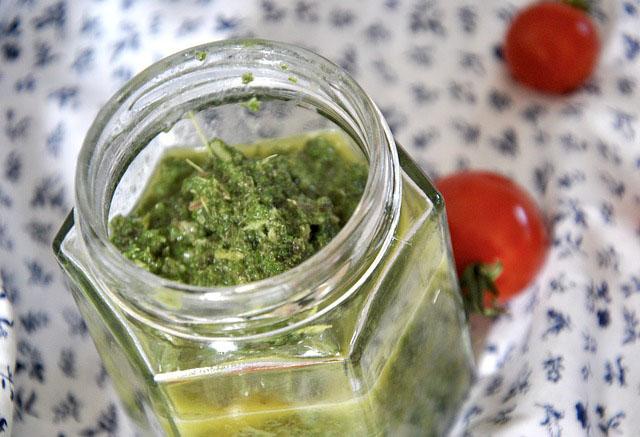 gluten free dairy free homemade coriander pesto