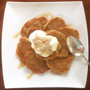 buckwheat banana carrot coconut pancakes