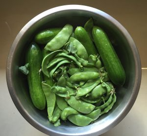wash in vinegar to remove some of the pesticides