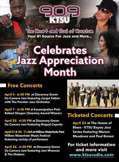 KTSU Celebtrates Jazz Appreciation Month