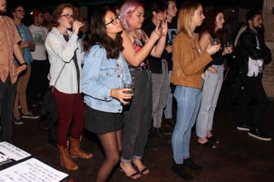 The crowd enjoying Mamalarky's tunes.