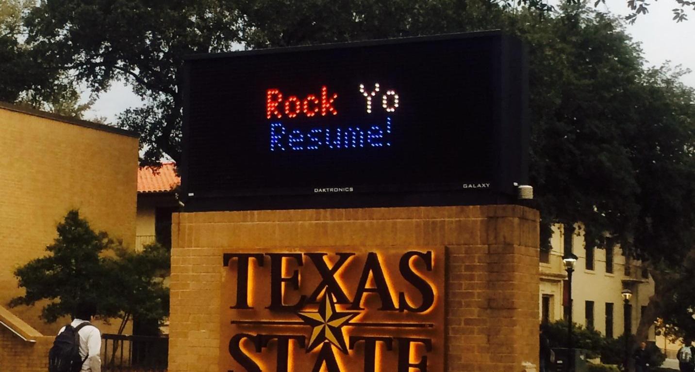 Rock Yo Resume, sign