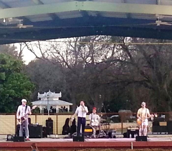 band at concert series