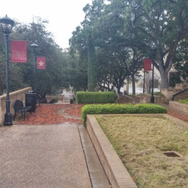 centennial and Old Main walkway. Photo by Christopher Cabello
