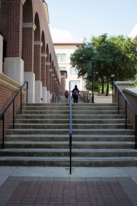 campus stairs