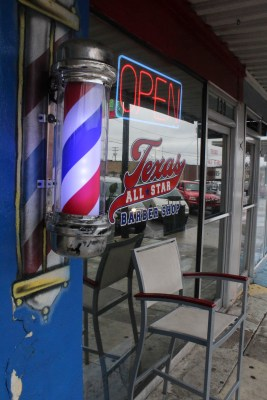 """African Americans became barbers and hair stylists for many rich white clients. As time progressed and slaves were freed, there weren't many respectable occupations for blacks, so many of them stayed in the hair catering industry. Since these barbershops and salons were able to be black owned, these establishments became a """"safe place"""" where many blacks could meet and socialize. Today, San Marcos is home to only two black owned barbershops, and Troy R. Johnson is the owner of one of these establishments, which has two locations. The first shop is located on North LBJ, and the second is located on South LBJ. Photo by DaLyah Jones."""