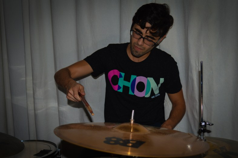 The Cold Tony's drummer, Austin Kinney, also plays in BluMoon, another band that played at MR Fest.