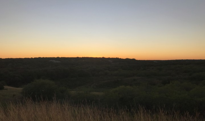 A picture of the view from Purgatory hiking trails during sunset.