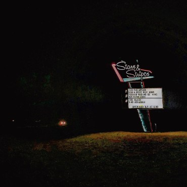The neon Stars & Stripes sign you see as you pull into the drive-in