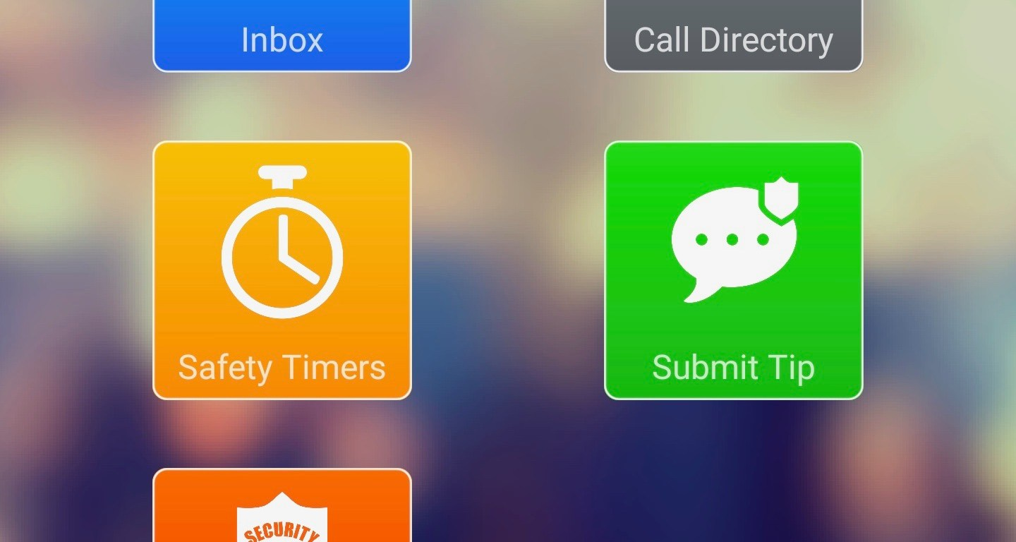 An app with a mixed arrangement of blue, grey, yellow, green and red icons on the screen for easy access.