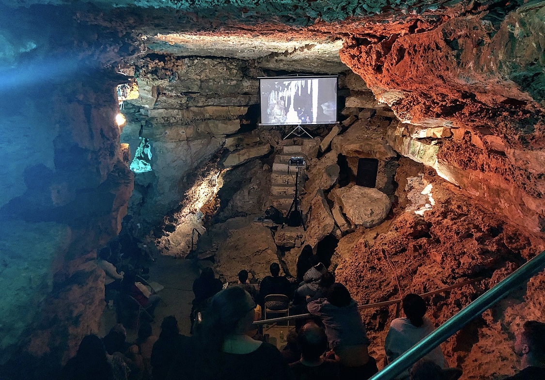 A screening of the horror film Beneath80 feet into the earth.