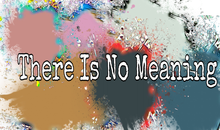 Edited splatters with white letters