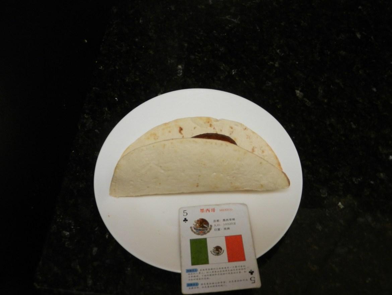 Homemade dinner using tortilla