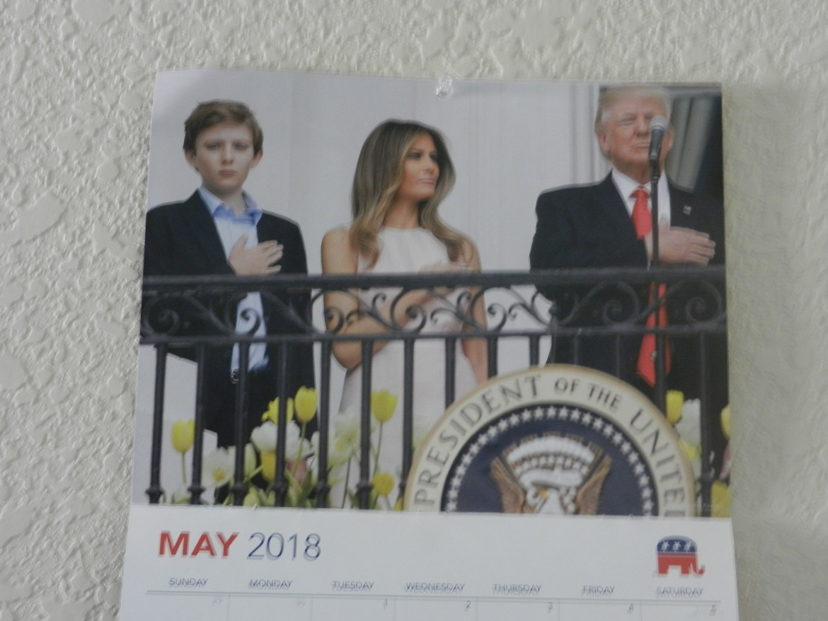 An RNC calendar received after donating to the Trump campaign.