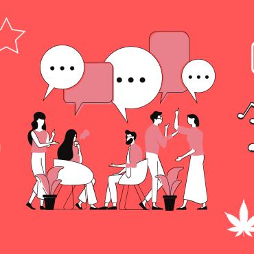 Image of cartoon people talking