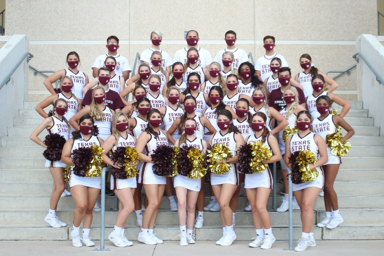 Texas State Cheerleading squad 2020-2021